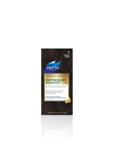 PHYTO PHYTO Phytocolor Sensitive 3 Koyu Kestane - Bitkisel Saç Boyası Siyah